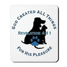 God Loves Animals Mousepad
