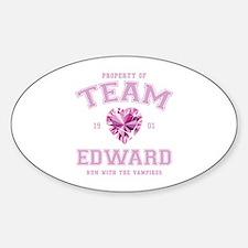 Team Edward Sticker (Oval)