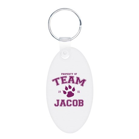 Team Jacob Aluminum Oval Keychain