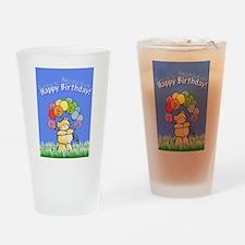 Happy Birthday Card Drinking Glass