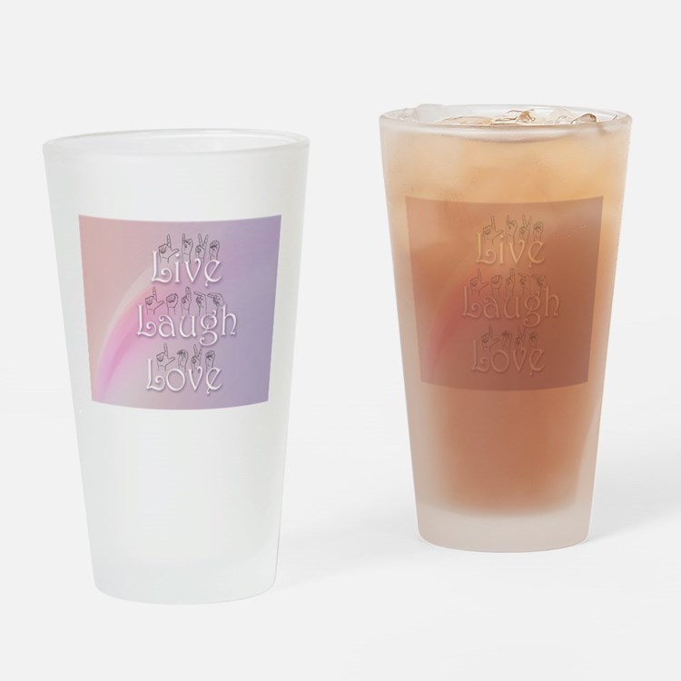 Live, Laugh, and Love Drinking Glass