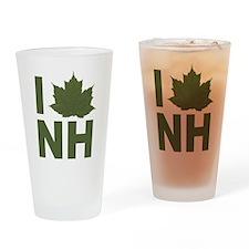 I Love NH Drinking Glass