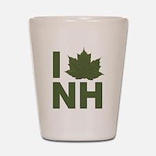 I Love NH Shot Glass