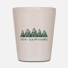 NH Winter Evergreens Shot Glass