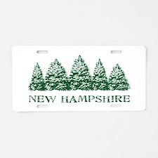 NH Winter Evergreens Aluminum License Plate