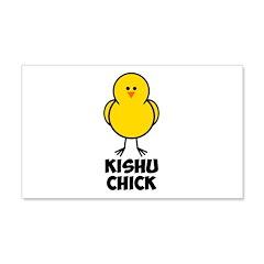 Kishu Chick 22x14 Wall Peel