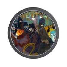 Toulouse-Lautrec Moulin Wall Clock