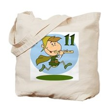 Eleven Pipers Piping Tote Bag