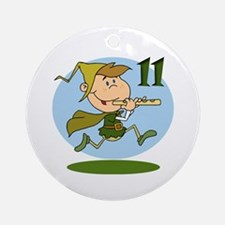 Eleven Pipers Piping Ornament (Round)