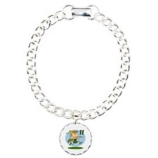 Eleven Pipers Piping Charm Bracelet, One Charm