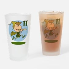 Eleven Pipers Piping Drinking Glass