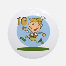 Ten Lords a Leaping Ornament (Round)