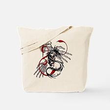 Skeleton Hands, Dragon Dagger Tote Bag