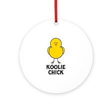 Koolie Chick Ornament (Round)