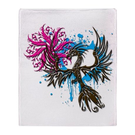 Phoenix Spiral Heart Throw Blanket