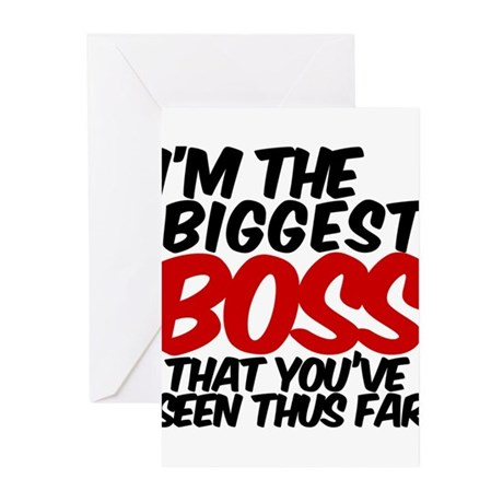 biggest boss seen Greeting Cards (Pk of 10)