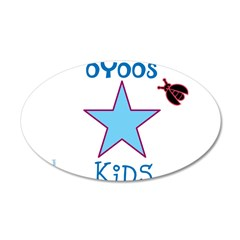 OYOOS Kids Star design 38.5 x 24.5 Oval Wall Peel