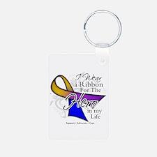 Bladder Cancer Hero Keychains