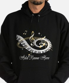 Personalized Piano Musical gi Hoodie (dark)