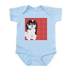 BLACK & WHITE POODLE 1 Infant Bodysuit