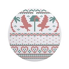 Howliday Sweater Ornament (Round)