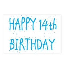 Cute 14th birthday Postcards (Package of 8)