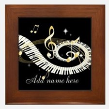 Personalized Piano Musical gi Framed Tile