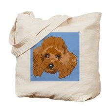 red poodle Tote Bag