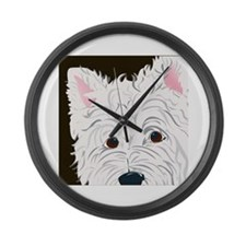WEST HIGHLAND TERRIER Large Wall Clock