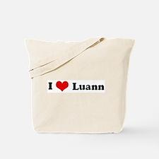 I Love Luann Tote Bag