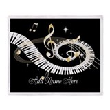 Piano Fleece Blankets