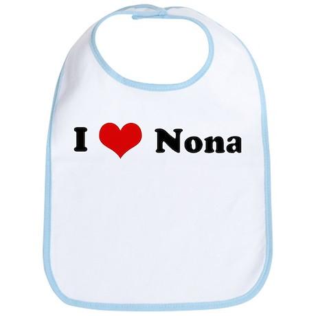 I Love Nona Bib