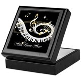 Keyboard personalized Square Keepsake Boxes