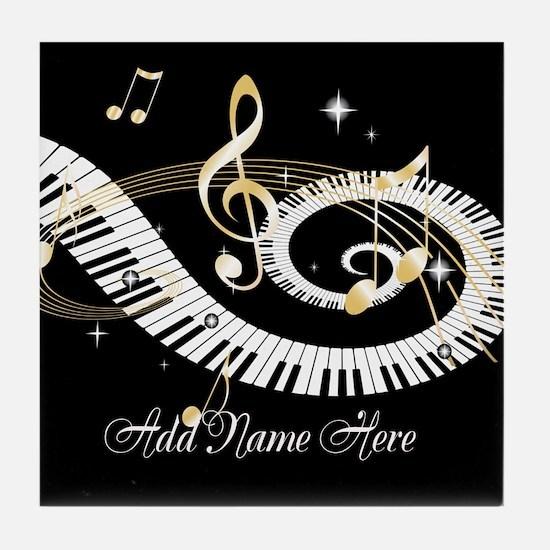 Personalized Piano Musical gi Tile Coaster