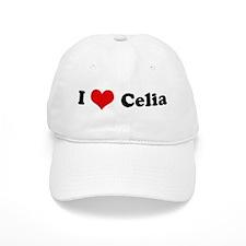 I Love Celia Baseball Cap