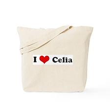 I Love Celia Tote Bag