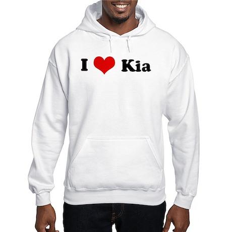 I Love Kia Hooded Sweatshirt