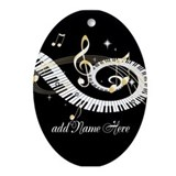 Personalized musical Oval Ornaments