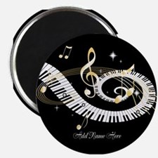 "Personalized Piano Musical gi 2.25"" Magnet (10 pac"