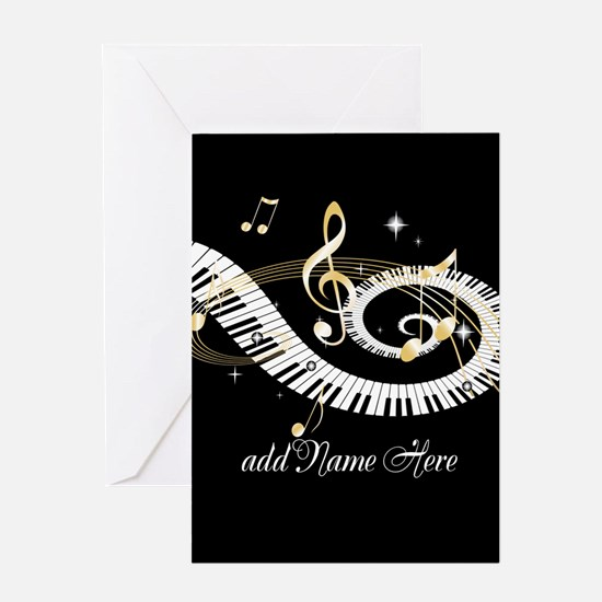 Personalized Piano Musical gi Greeting Card