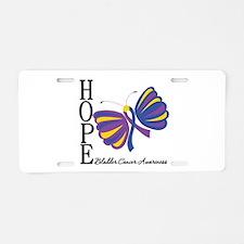 Butterfly Hope Bladder Cancer Aluminum License Pla