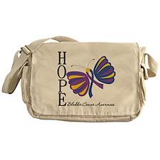 Butterfly Hope Bladder Cancer Messenger Bag
