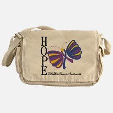 Butterfly Hope Bladder Cancer Messenger Bag