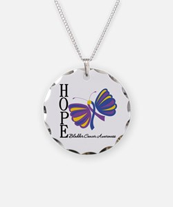 Butterfly Hope Bladder Cancer Necklace