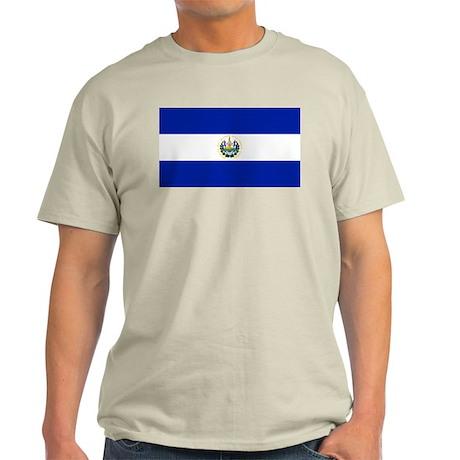 Flag of El Salvador Ash Grey T-Shirt
