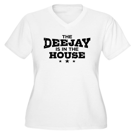 Funny Deejay Women's Plus Size V-Neck T-Shirt
