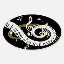 designer Musical notes Sticker (Oval)