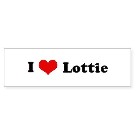 I Love Lottie Bumper Sticker