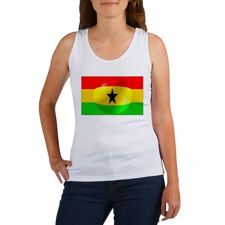 Ghana Flag Design Women's Tank Top