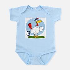 Three French Hens Infant Bodysuit